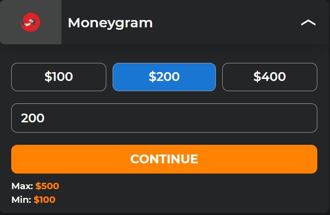 MyBookie cashier MoneyGram deposit