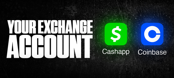 Exchange account Cashapp and Coinbase